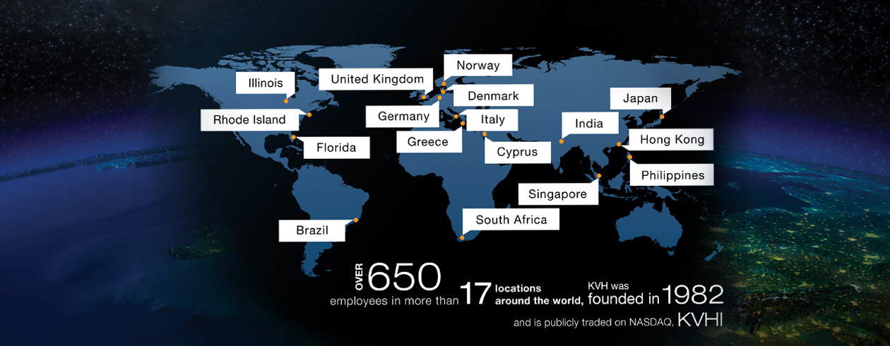 KVH worldwide innovation