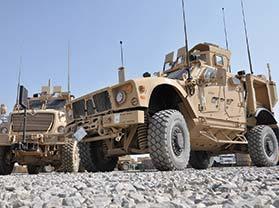 Humvee equipped with KVH TACNAV