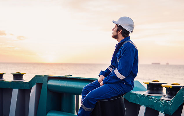 seafarer looking out to sea