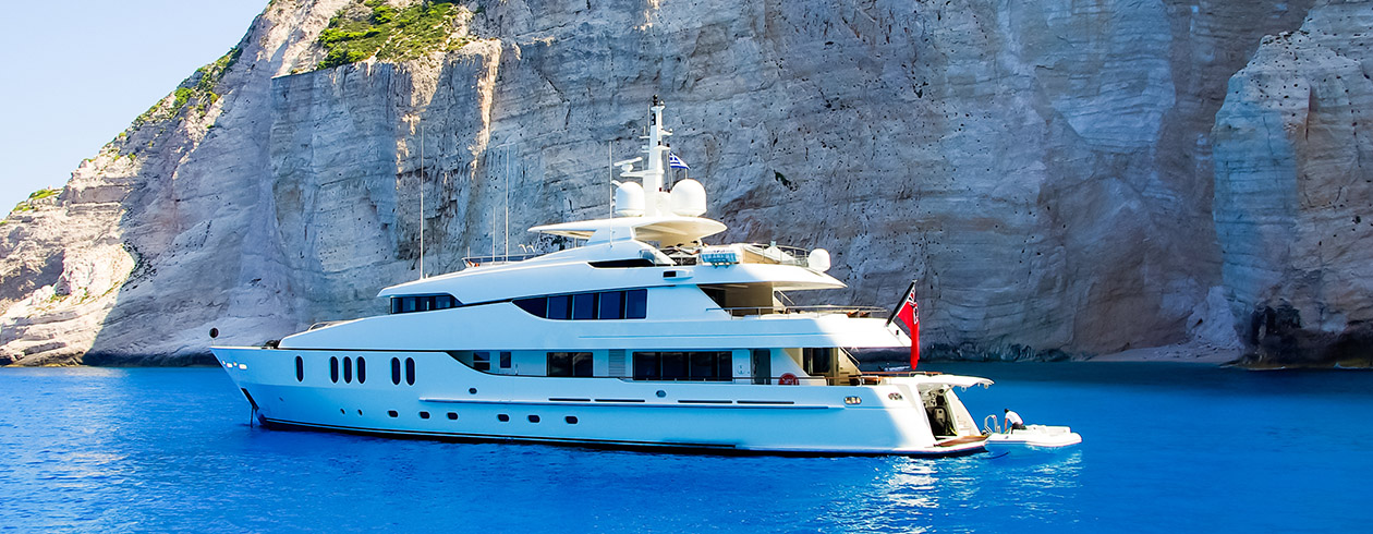 superyacht with TracPhone HTS onboard