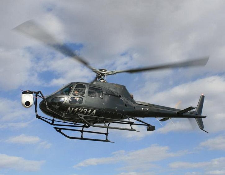 DSP 3000 helicopter with gimbal