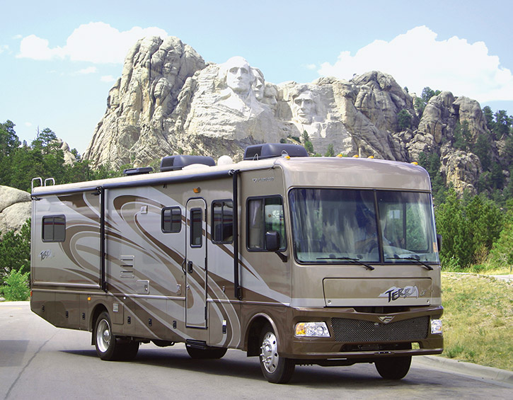 LTE-1 leisure land RV on the move