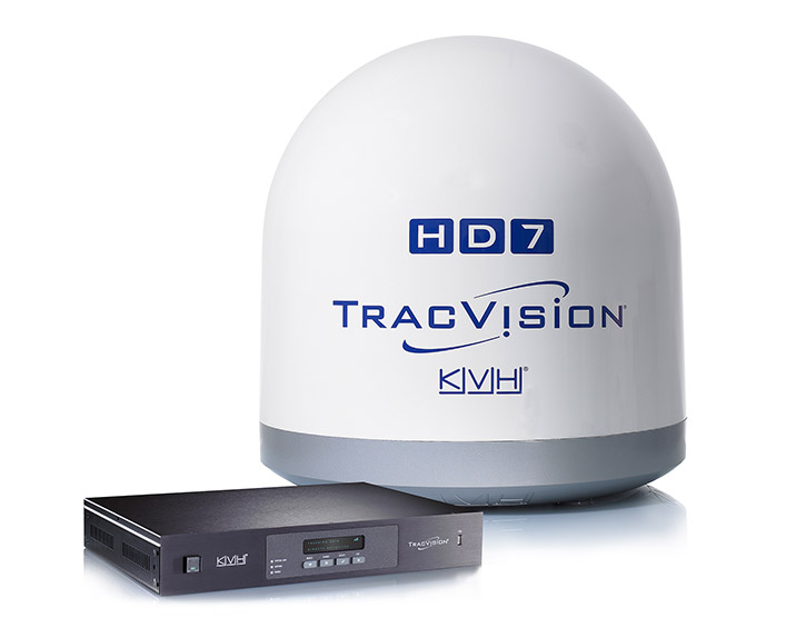 Satellite TV TracVision HD7 dome and transmitter