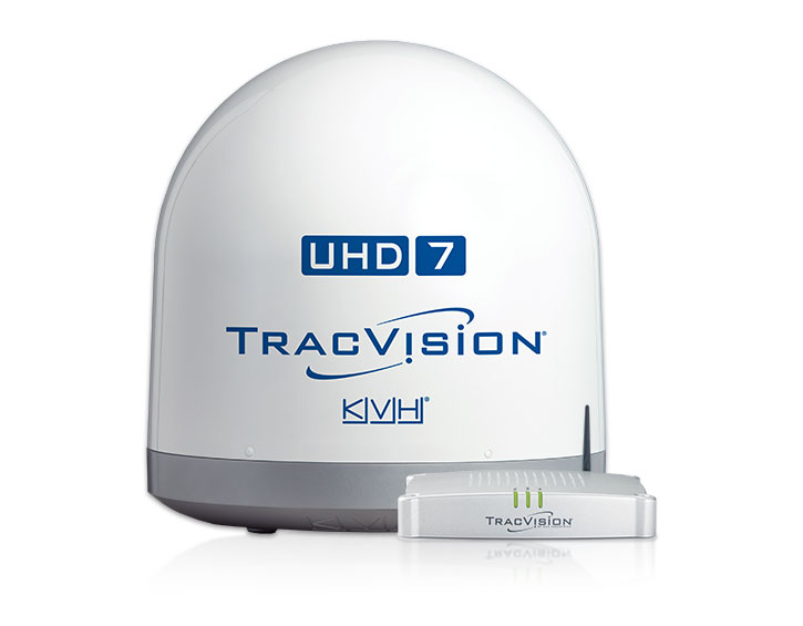 TracVision UHD7 with TV Hub