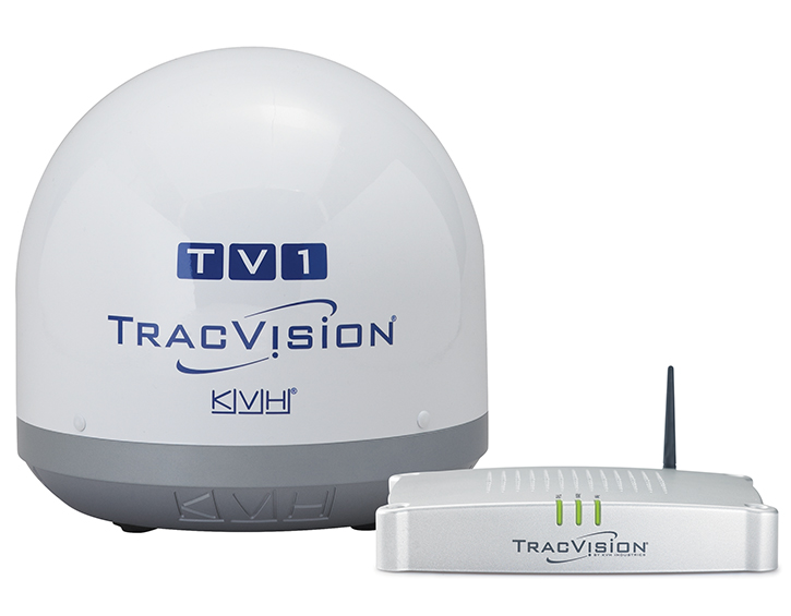 TracVision TV1 Commercial and Leisure dome and box