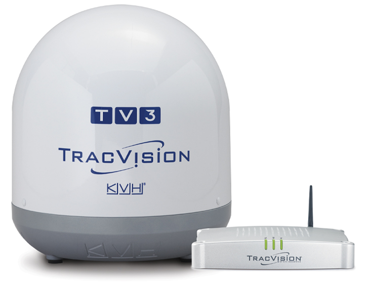 TracVision TV3 dome and receiver box