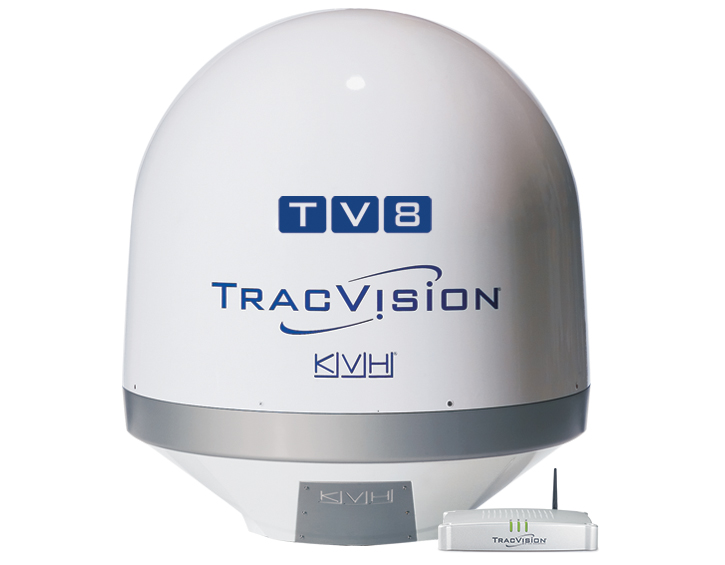 TracVision TV8 dome and hub