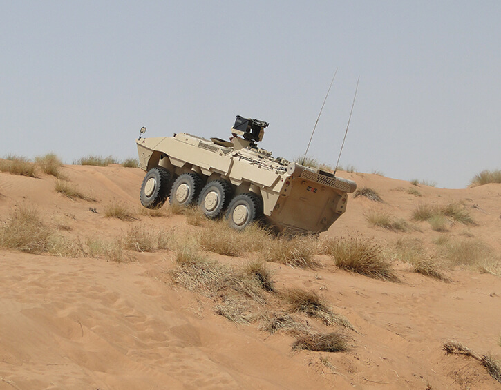 TACNAV 3D with vehicle in desert