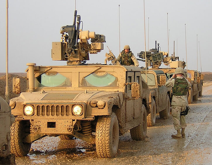 TACNAV Light with humvees