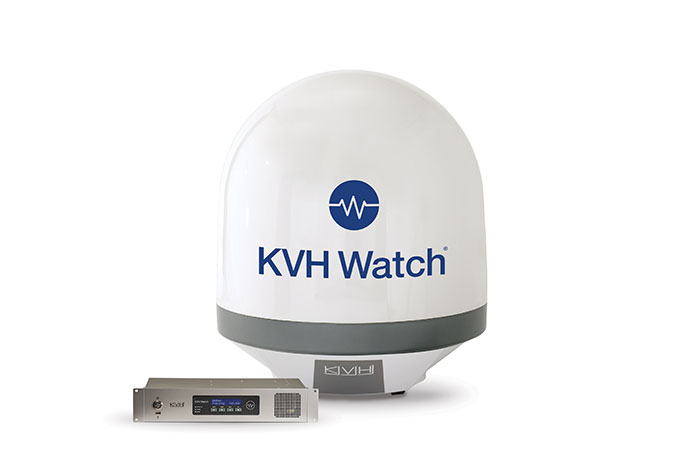 KVH Watch antenna with ACU
